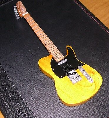 NEW Yellow Vintage Hot Rod 52 Telecaster Miniature Mini Guitar with stand