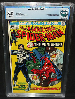 Amazing Spider-Man #129 - 1st Appearance of the Punihser - CBCS Grade 8.0 - 1974