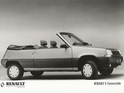 Renault 5 Convertible, Period Photograph.