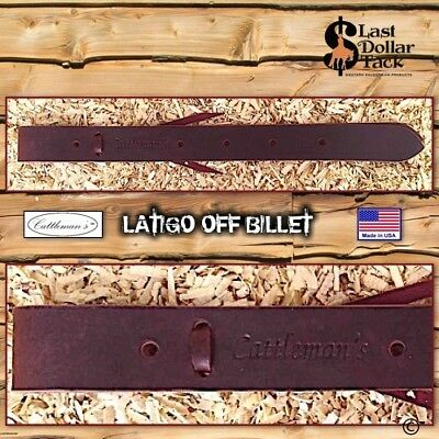 Western Latigo Off Billet ~ Top Quality Doubled Latigo Leather