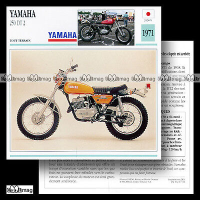 #037.16 YAMAHA 250 DT 2 1971 (DT2) Fiche Moto Motorcycle Card