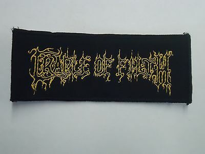 Cradle Of Filth Black Metal Woven Patch