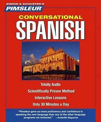 NEW Spanish Conversational (Latin American) By Pimsleur Audio CD Free Shipping