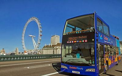 2 x 48HR TICKETS * SIGHTSEEING TOUR OF LONDON ON OPEN BUS * GOLDEN TOURS