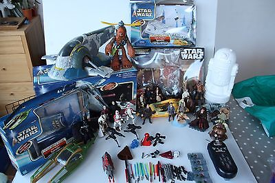 Star Wars Massive Job Lot: Jango Fett Slave1, Zam Wessell, Comm Talk, 24 Figures