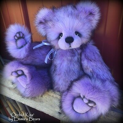"KIT - 14"" Orchid Kiss Faux Fur Bear -    Make your own"