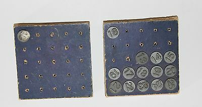 15 VINTAGE Acro Numbering Tacks Hold-Tite Screen Markers Numbers
