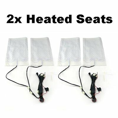 Pair of Carbon Fiber Heated Seat Kits for 82-91 e30 BMW trimmable for custom