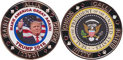 Card Guard -President Donald Trump Make America Great President Seal Free Ship*