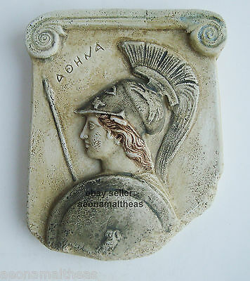 Athena Promahos - Relief (Anaglyph Stele) of the Goddess of Wisdom - 10cmx15cm