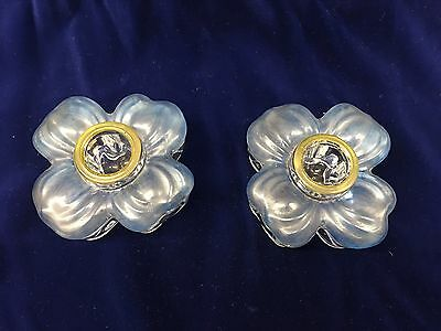 Duncan & Miller Dogwood candle holders Pair