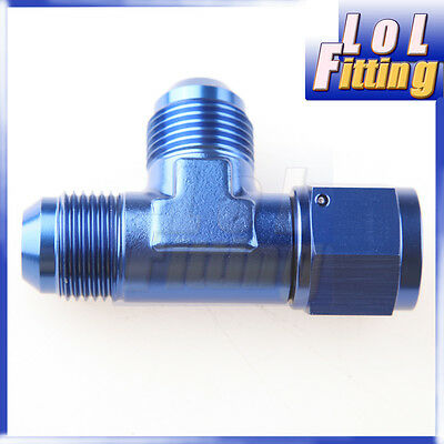 AN -10 AN 10 10 AN Male To -10AN Female Pipe Flare Tee T Piece Fuel Fitting Blue