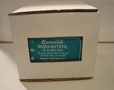Eurotherm Continental Three Phase Solid State Relay RVD3-6V75T/L