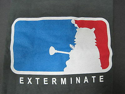 MAJOR LEAGUE EXTERMINATOR T-SHIRT Size XL Doctor Who Dalek ANTARCTIC PRESS