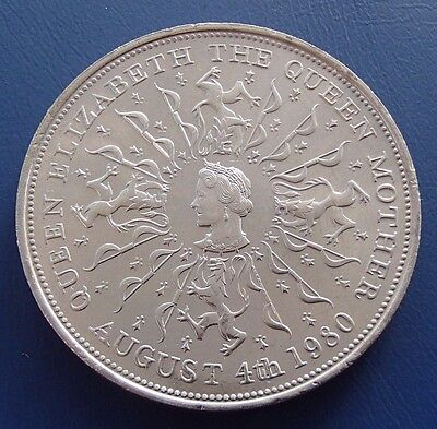 1980 Great Britain England QUEEN MOTHER commemorative CROWN - 615a