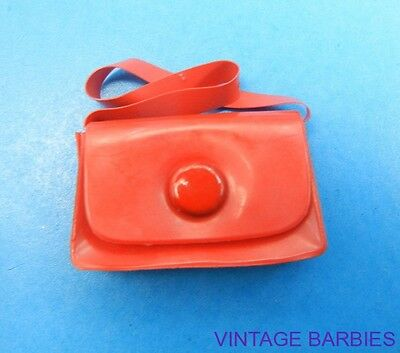 Barbie Doll Sized Red Purse Excellent ~ Vintage 1960's