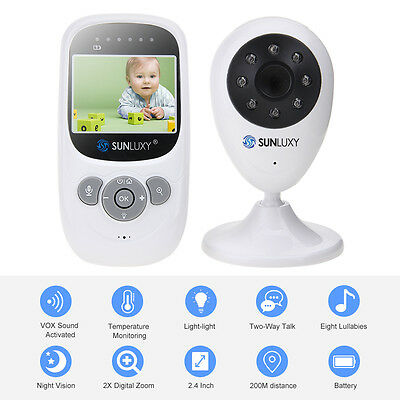 "SUNLUXY 2.4 "" TFT LCD Surveillance Security Baby Monitor"