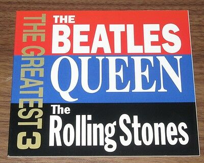 ROLLING STONES Queen BEATLES Japan PROMO ONLY 64 page mini booklet NOT tour book