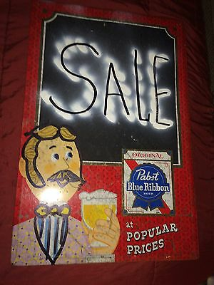 PABST BEER Pabst Blue Ribbon PBR Menu Board Chalkboard Adv Tin Beer Sign Vintage