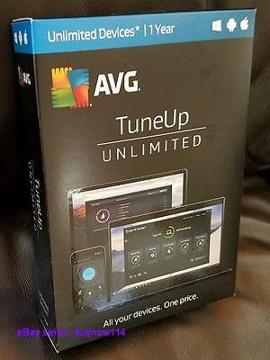 NEW SEALED AVG TuneUp Unlimited Devices 2017 PC Performance, Android Mac Cleaner