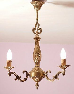 Splendid 3 Light Vintage French Bronze Chandelier