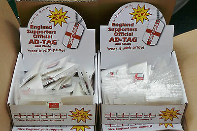 Joblot England Official AD - Tag & Chain Necklace x 950 - NEW RRP £2800