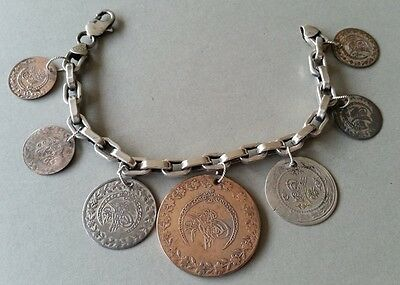 SPECTACULAR Bracelet with Ottoman-Islamic silver coins from 19th century