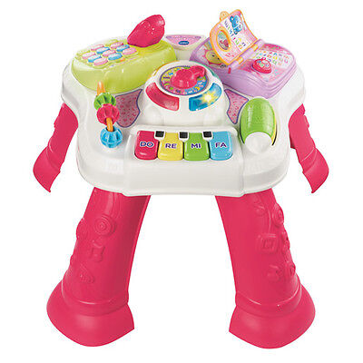 New VTech Play & Learn Activity Table Pink
