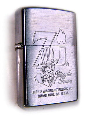 ZIPPO Beautiful UNCLE SAM & ZiPPO Flame Engraved Speial Collectible Only1on ebay