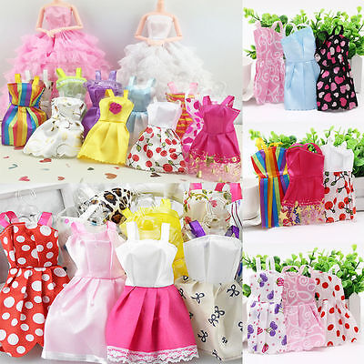 10 X Beautiful Handmade Party Clothes Fashion Dress for Barbie Doll Mixed CharmS