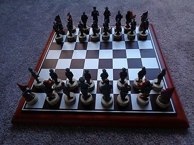 american civil war chess set and board