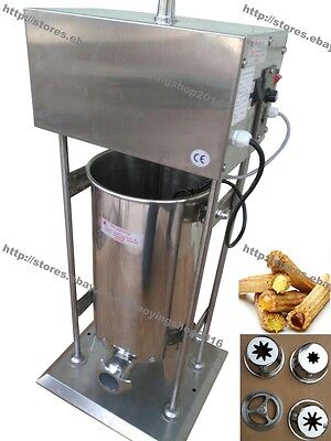 10L/12L/15L Heavy Duty Electric Auto Spanish Donut Churrera Churro Machine Maker