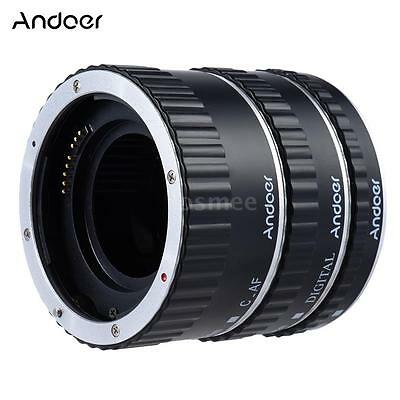 Andoer Colorful Metal TTL Auto Focus AF Macro Extension Tube Ring For Canon Q2X4