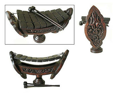 New - Xylophone Decorative Hand Carved Traditional Thai 8 Key Musical Instrument