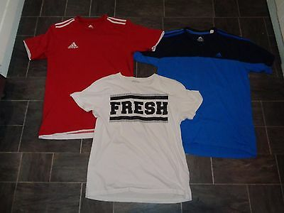 mens t-shirt bundle, size medium, 2 x adidas and 1 from new look
