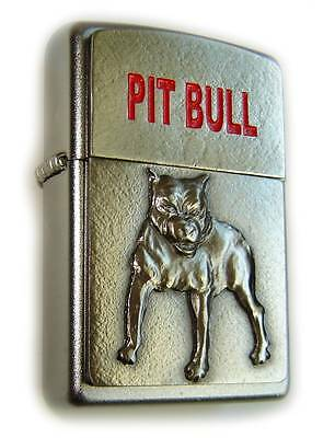 Zippo Beautiful PIT-BULL FIGHTER DOG 3D Massive Plate Special Edition RARE !