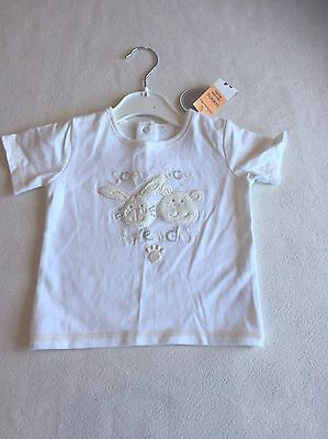 Unisex Baby Clothes 3-6 Months - Pretty Teddy T Shirt Top -New -