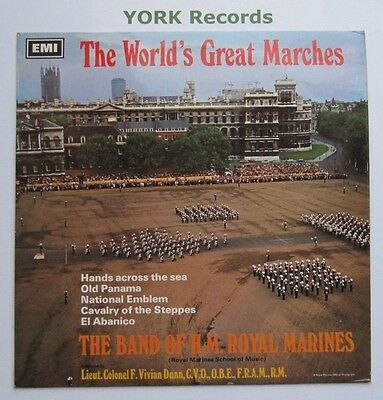 BAND OF HM ROYAL MARINES - The World's Great Marches - Ex LP Record HMV CSD 3637