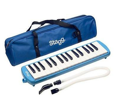 Stagg MELOSTA32BL 32 Note Melodica with Bag - Blue - Flexible tube