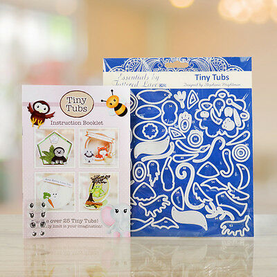 Tattered Lace Essentials TINY TUBS Die Set PLUS Instruction Booklet - ETL487