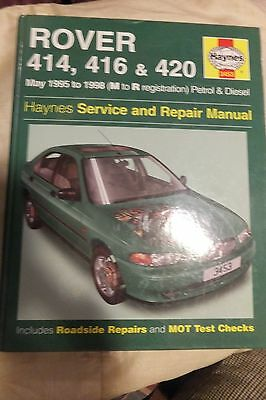 Haynes Rover 414 416 420 manual May 1995 to 1998 m to r /  400 series  vg