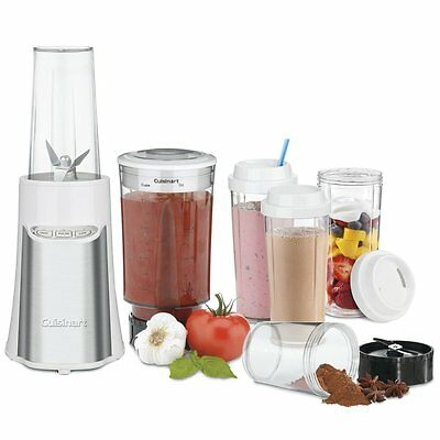 Cuisinart SmartPower 15 Piece Compact Portable Blending/Chopping System, White