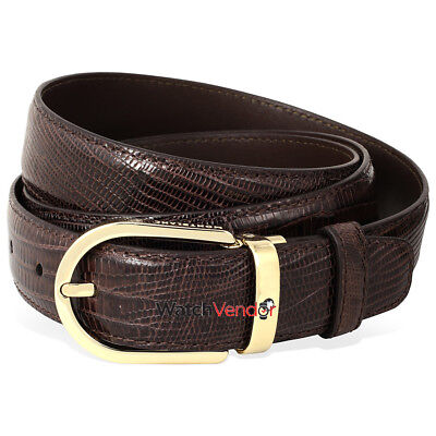 MontBlanc Tejus Leather Belt- Brown