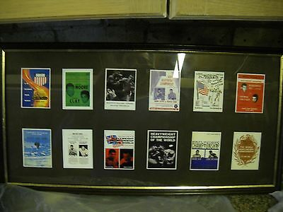 Muhamad Ali Framed Retro Fight posters