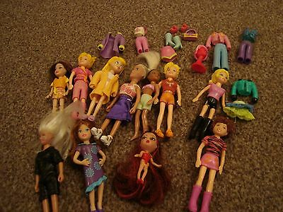 polly pocket dolls plus accessories