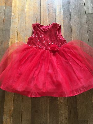 Age 12-18 Months Mothercare Red Sequin/netting Party Dress Winter/xmas Rrp £35