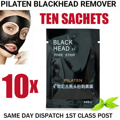 10 x PILATEN Blackhead Remover Face Mud Mask Peel Pore Deep Cleansing Purifying
