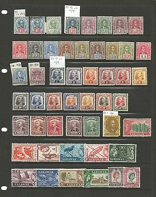 Early Sarawak Assortment on Hagner and Black Card. Cat £550.