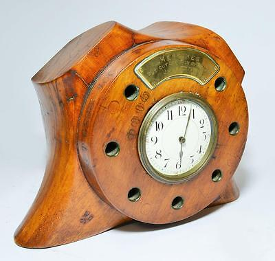 World War 1 propeller clock, ex RAF BE12 bi-plane, shot down at Messines, 1917