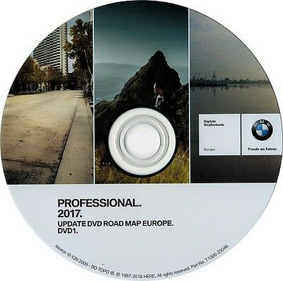 Bmw Update Dvd Road Map Europe De L'ouest Professional 2017